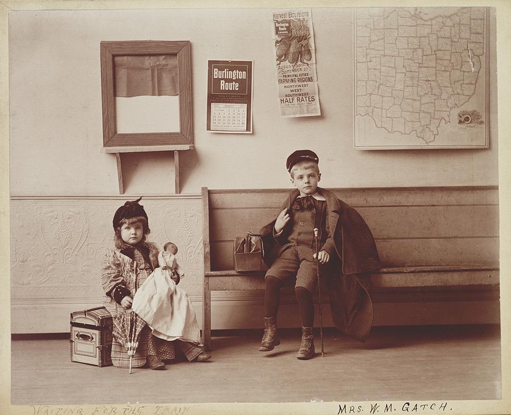 Children Waiting for the Train, June 30, 1893