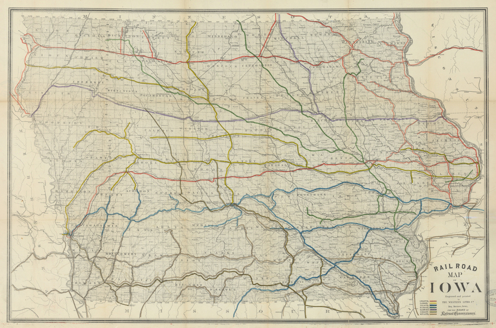 Railroad Map of Iowa, 1881 | IDCA on map of wisconsin, sioux center iowa, washington iowa, map of alabama, map of ohio, walnut iowa, altoona iowa, fremont iowa, ottumwa iowa, eldora iowa, decorah iowa, adel iowa, dyersville iowa, map of mississippi, toledo iowa, fort madison iowa, early iowa, airports in iowa, map of maine, red oak iowa, map of pennsylvania, road map iowa, adair iowa, google maps iowa, cities in iowa, map of kentucky, hull iowa,