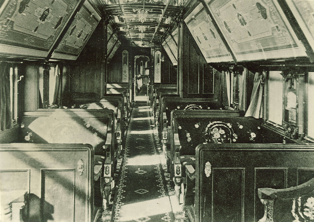 pullman car interior between 1880 and 1899 idca. Black Bedroom Furniture Sets. Home Design Ideas