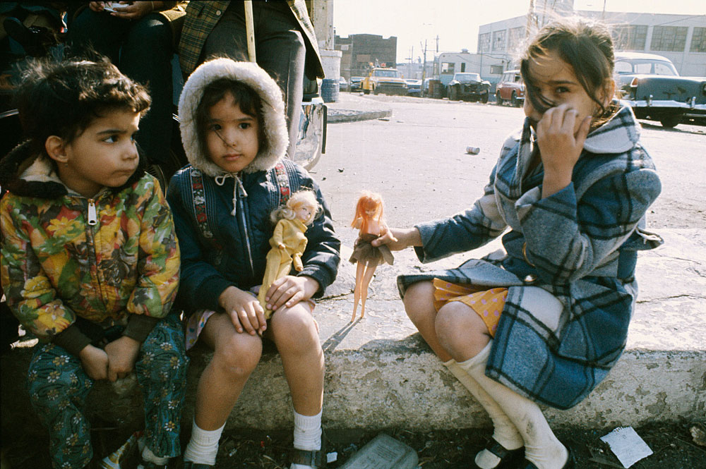 Children Playing with Barbie Dolls in the Bronx, New York, 1970