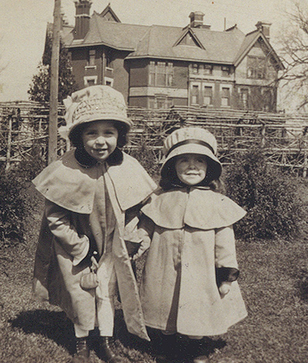 Ellen and Barbara Douglas in Front of Brucemore Mansion, Date Unknown