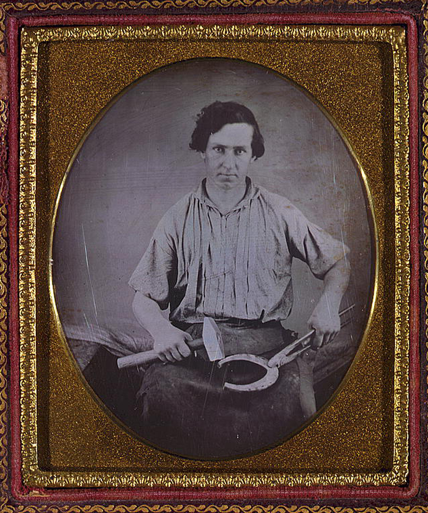 """Occupational Portrait of a Blacksmith,"" between 1850 and 1860"
