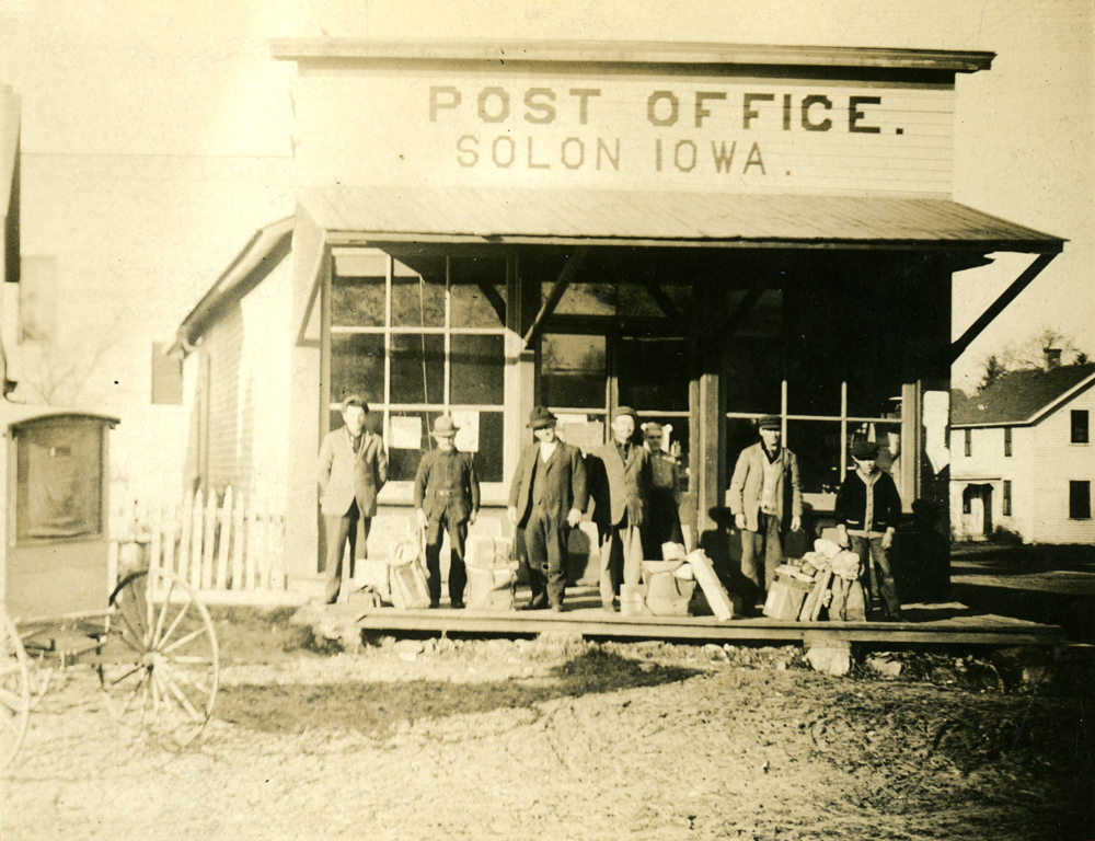 Post Office in Solon, Iowa, ca. 1910