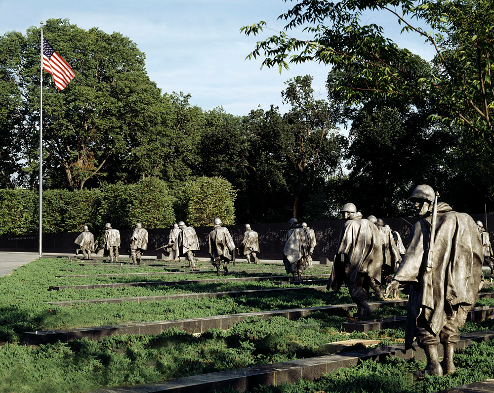 Korean War Veterans Memorial In Washington Dc Between 1995 And