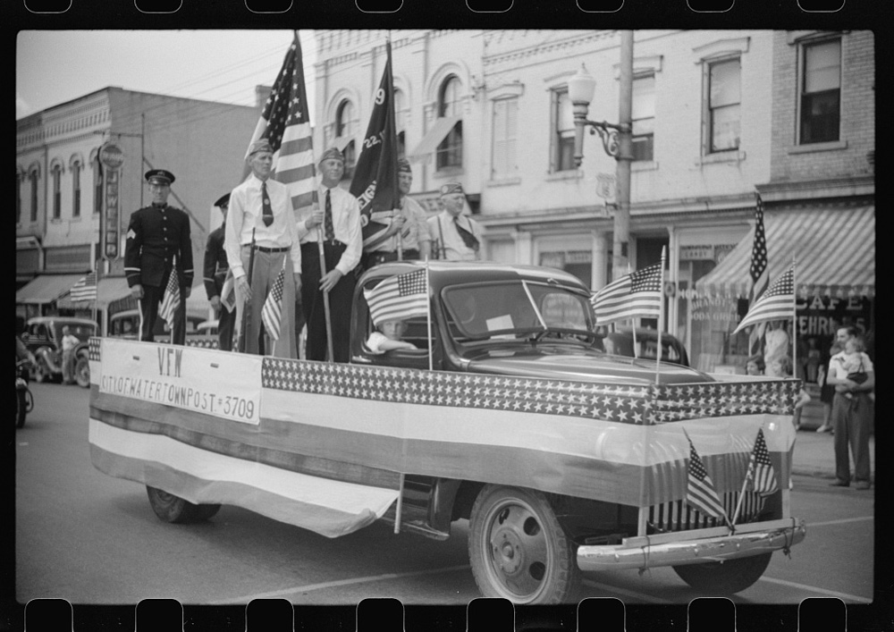 American Legion in Fourth of July Parade in Watertown, Wisconsin, July 4, 1941