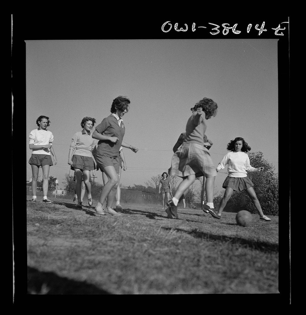 Children Playing Soccer in Washington, D.C., October 1943