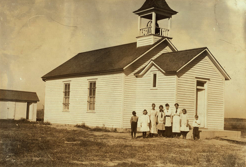 A one-room schoolhouse in Brush, Colorado.