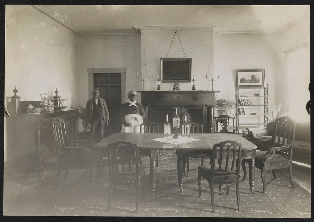 Servants in Bulloch Hall's Dining Room in Roswell, Georgia, March 27, 1907