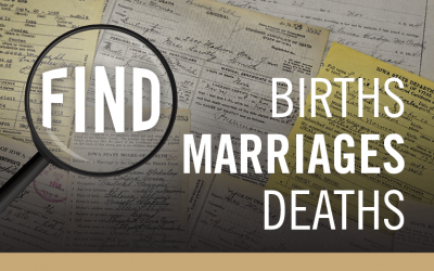 Find birth, marriage and death records.