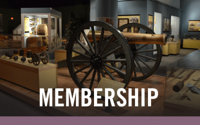 Membership to Historical Society with image of display cannon