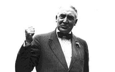 Senator Warren G. Harding, who was the Republican candidate for president in 1920.