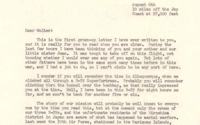 Text of a letter sent by Dr. Alvarez to his son.