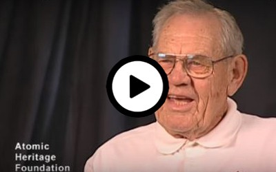 Robert Holmberg describes his participation with the Manhattan Project.