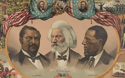 The print commemorates men prominent in and representative of the advancement of African-American civil rights movement of the 19th century.