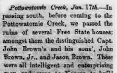 Article about the honorable nature of John Brown and his sons
