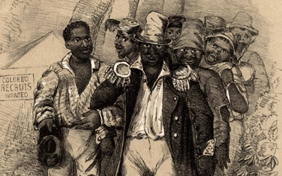 "Written and composed in 1863 by W.W. Partridge, ""The Darkies Rally"" was a recruitment song that called for African-Americans to volunteer to join the Union army. Motivations for doing so included the promises of their own home, a safe and secure family, employment for pay, and above all a Union of states without slavery."