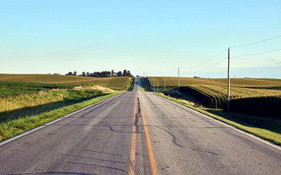Country road in Benton County, Iowa