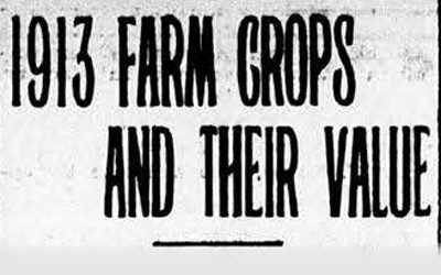 This article contains information about the crops produced in Iowa in 1914 and what their yield and price was per commodity.