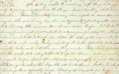 A letter is from Giles S. Thomas the to Thomas family on July 23, 1876