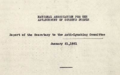 Anti-Lynching Committee Report, January 21, 1912
