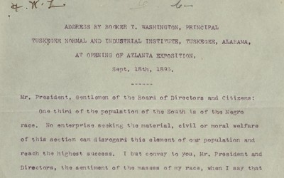 Booker T. Washington's Atlanta Exposition Speech