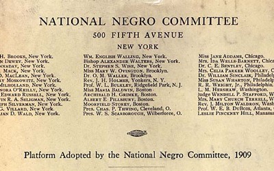 After a terrible race riot in Springfield, Illinois, in August 1908, an interracial group, comprised mainly of whites, but with a few prominent African Americans, met in 1909 to form an organization that was soon named the National Association for the Advancement of Colored People. The organizational goals were the abolition of segregation, discrimination, disenfranchisement, and racial violence, particularly lynching.