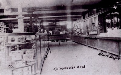 This is a photo from the inside of Monroe Mercantile, the Consolidation Coal Company's company store in Buxton, Iowa, and it shows a wide variety of merchandise available for purchase in 1911.