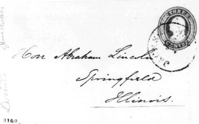 A letter from Thomas T. Swann to Abraham Lincoln