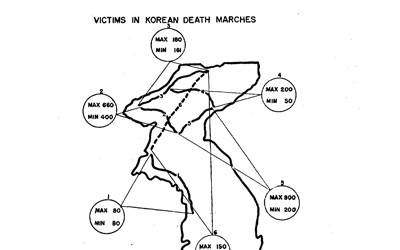 The January 1954 report about atrocities committed by communist forces in Korea.