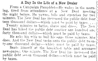 Newspaper article that appeared in the Centerville