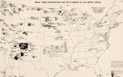 American Indian Tribes, Reservations and Settlements in the United States, 1939