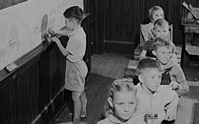 Jack Delano took a photograph of a white-only school classroom in Georgia in 1941.