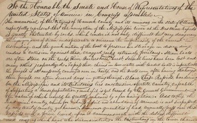 """""""Navigation of Mississippi River"""" Petition, January 18, 1836"""