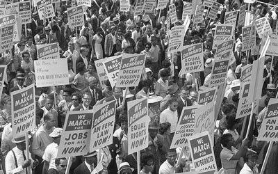 Demonstrators during the March on Washington, D.C., August 28, 1963