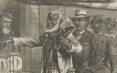 """""""The First Vote"""" Harper's Weekly Cover, 1867"""