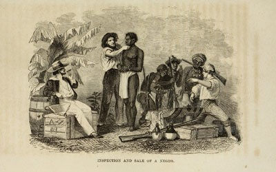 """""""Inspection and Sale of a Negro,"""" 1854"""