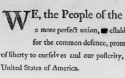 Preamble to the U.S. Constitution, September 1787