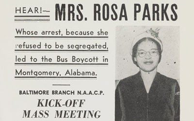 Rosa Parks Meeting Poster, between 1956 and 1959