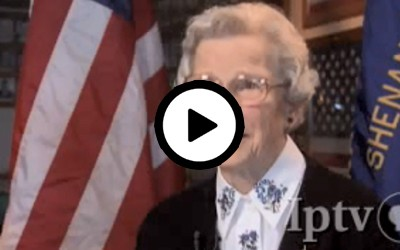 In an interview that aired on Iowa Public Television in 2008, World War II veteran Mary Adams describes her experience enlisting in the military on a cold December day. After basic training, she worked on Cape Cod, Massachusetts making up the orders for the men going overseas.