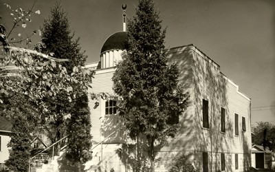 Mother Mosque of America, also once known as Moslem Temple, was the first and is the oldest surviving mosque in the United States. The photo was taken in Cedar Rapids, Iowa, on October, 1950