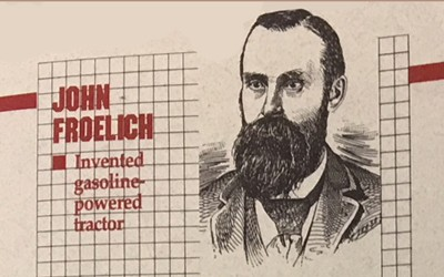 Biography of John Froelich, who was inducted into the Iowa Inventors Hall of Fame in 1991
