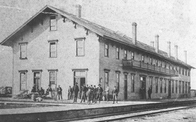 Chicago and Northwestern Depot at Boone, Iowa, early 1880s