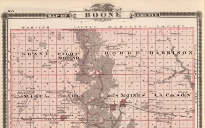 Illustrated Historical Atlas of Boone, Iowa from 1875