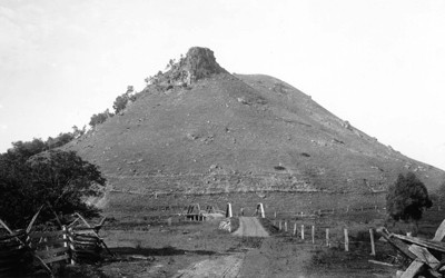 Owl's Head Mountain in Allamakee County, photographed sometime between 1895 and 1910.