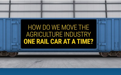 This infographic shows how much of a single agriculture commodity can be carried in one rail car at a time.