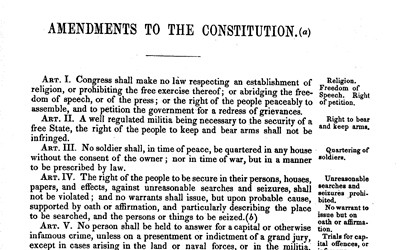Bill of Rights in the U.S. Constitution, September 25, 1789