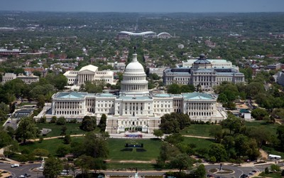 Aerial View of the U.S. Capitol in Washington, D.C.