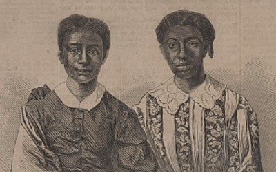 Illustrated Portraits of Dred Scott and His Family, Harriet, Eliza and Lizzie, 1857