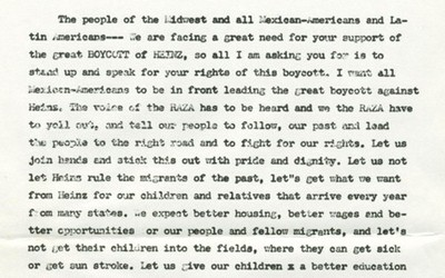 Muscatine Community Effort Organization (CEO) Flier on the Boycott of H.J. Heinz Company, 1969