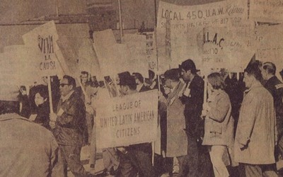 March in Support of Migrant Workers in Des Moines, Iowa, February 1969